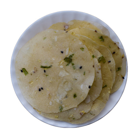 Tapioca Green Chilli Papad - Homemade Kappa Green Chilly Papadum - Buy Online