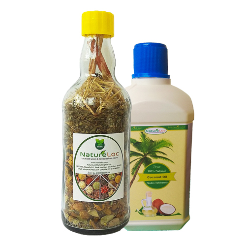 Ayurvedic Hair Oil Mix, Herbal Hair Oil Mix and Coconut Oil - Buy Online