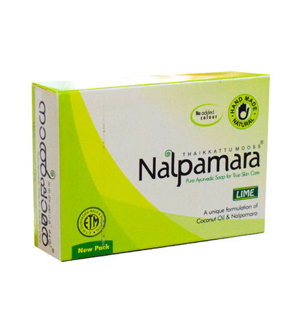 Nalpamara Pure Ayurvedic Soap Lime-Buy Online