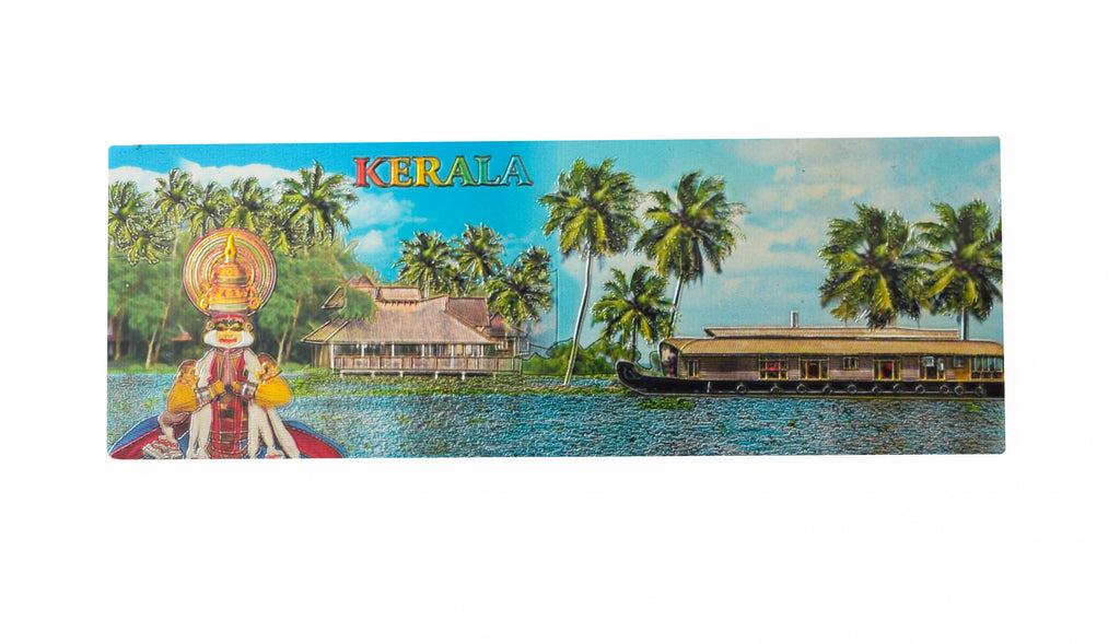 Kerala Backwaters Houseboat Kathakali Rectangular Shaped Fridge Refrigerator Magnets Souvenir - Buy Online