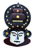 Kathakali Face Wooden Handicraft Home Decor 12 inches - Buy Online