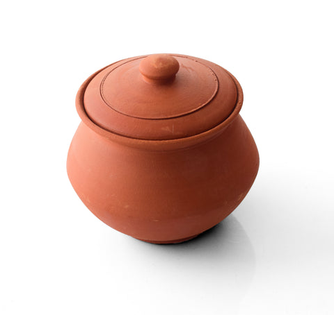 Clay Curd Pot - Handmade Clay Curd Pickle Pot With Lid Earthen Cookware - Buy Online