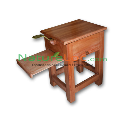 Thenga Chirava, Chirava Stool, Wooden Coconut Scraper Stool, Stool Cum Coconut Scraper, Wooden Coconut Shredder - Buy Online