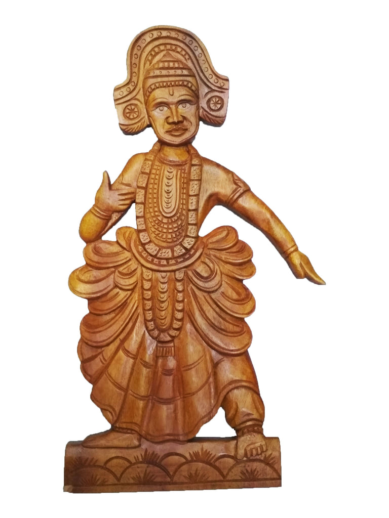 Ottamthullal (Ottan Thullal) - Wooden Kerala Handicraft Home Decor - Buy Online