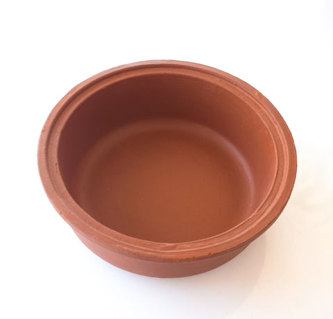 Clay Sauce Pot, Clay Serving Pot, Clay Earthen Cooking Pot - Handmade Earthen Cookware - Buy Online