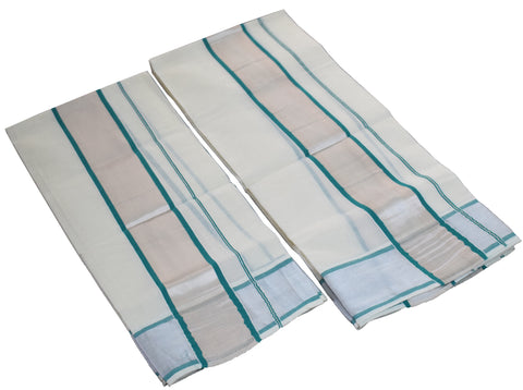 Set Mund Silver and green border-Buy online