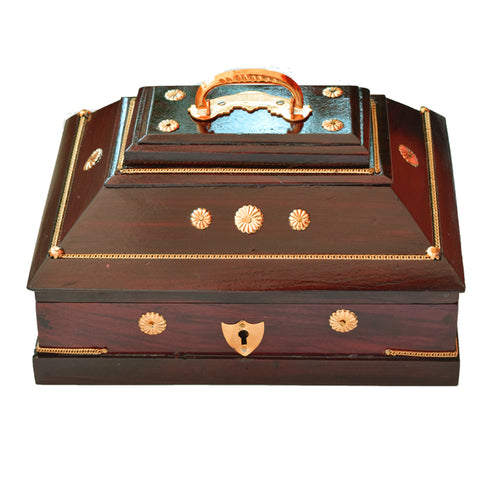 Amada Petti, Wooden Jewellery Box, Handcrafted Wooden Jewellery Box From Kerala, Amadapetti - Buy Online