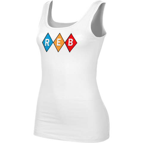 Reb Diamond Girls' White Tank Top