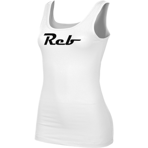 Reb Magneto Girls' White Tank