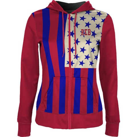 Stars & Stripes Zip-Front