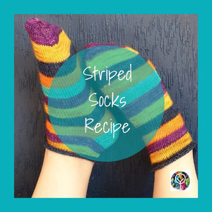 Striped short socks - Free recipe