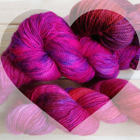 Hand dyed 100% British yarn - spun in Yorkshire and hand dyed on Merseyside