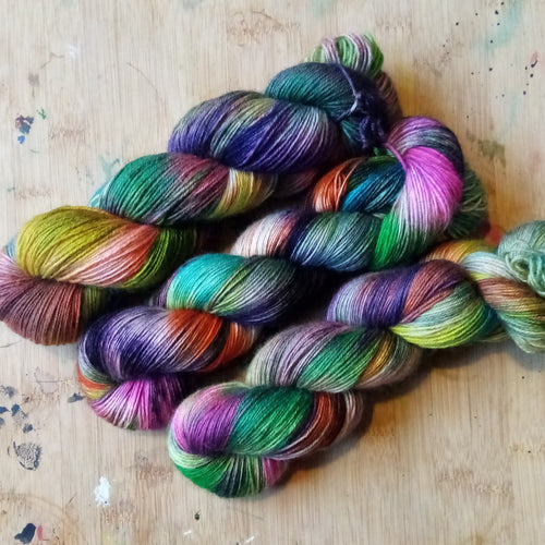 Rainbow Witch - Halloween collection - Poppy 4ply - British Bluefaced Leicester