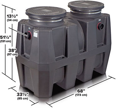 SCHIER GB-250 100 GPM HIGH CAPACITY GREASE INTERCEPTOR GREASE CAPACITY 1076LBS WEIGHT 230 LBS (4
