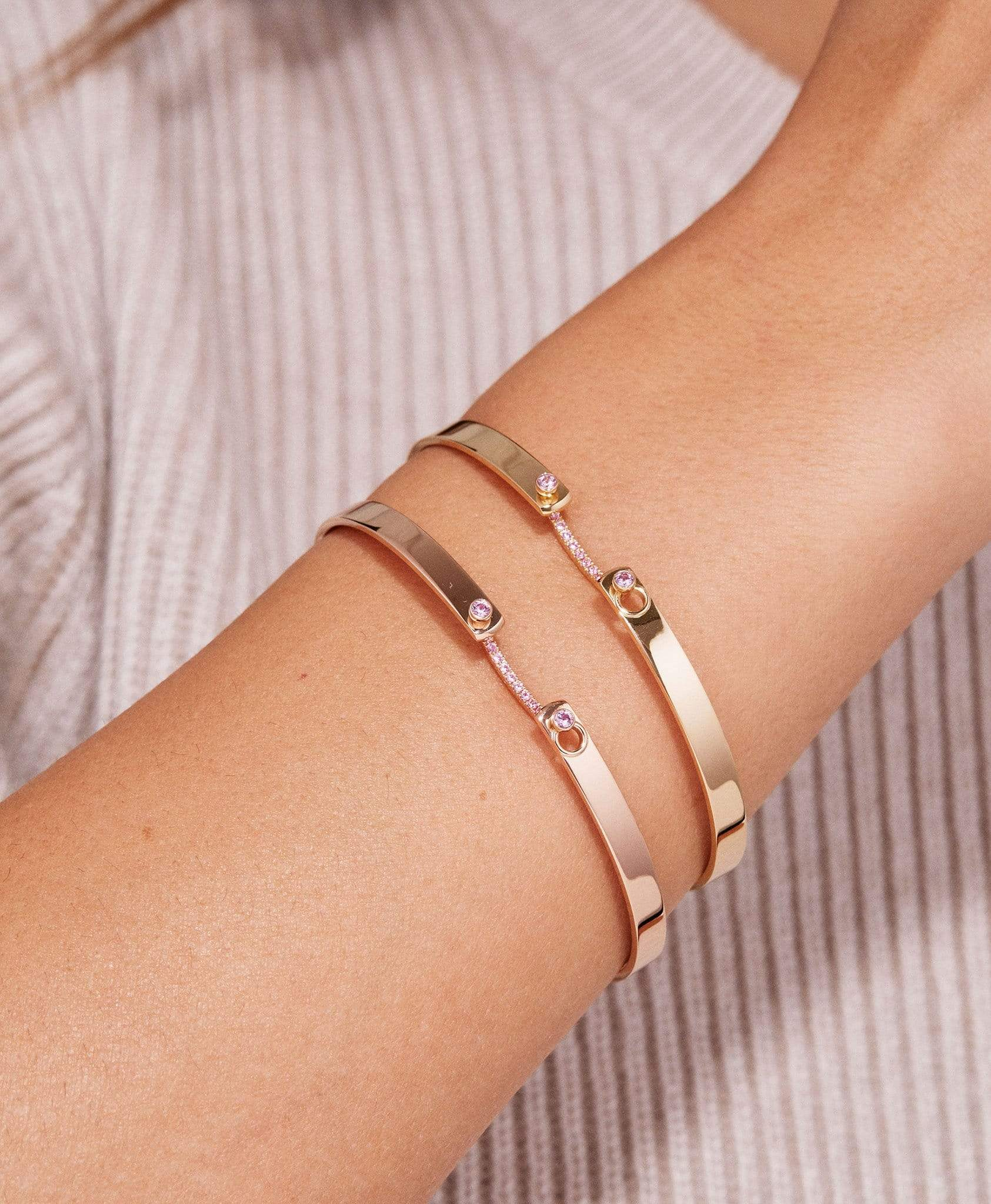 Baby Pink Mood Bangle: Discover Luxury Fine Jewelry | Nouvel Heritage