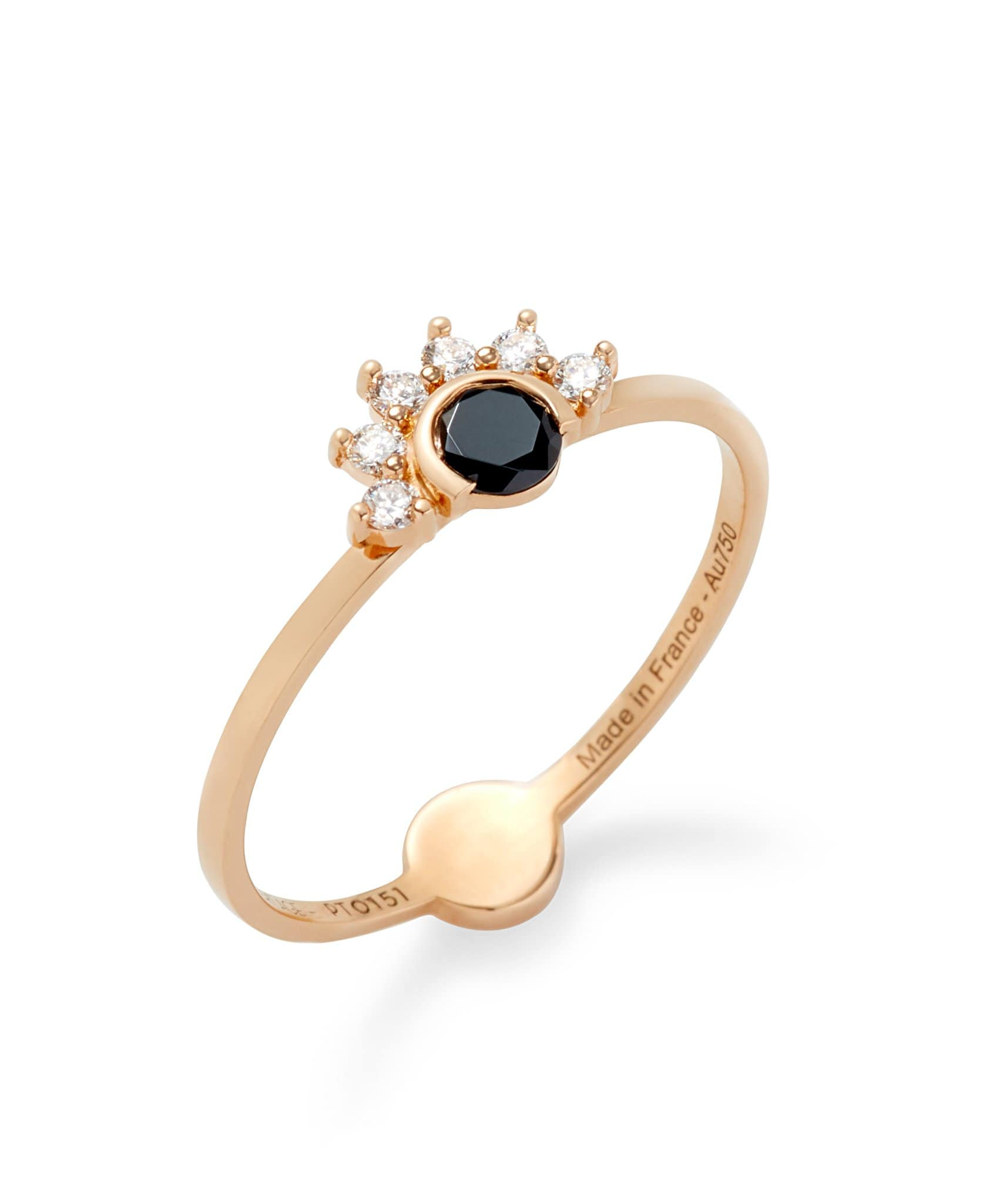 Black Spinel Ring: Discover Luxury Fine Jewelry | Nouvel Heritage || Rose Gold