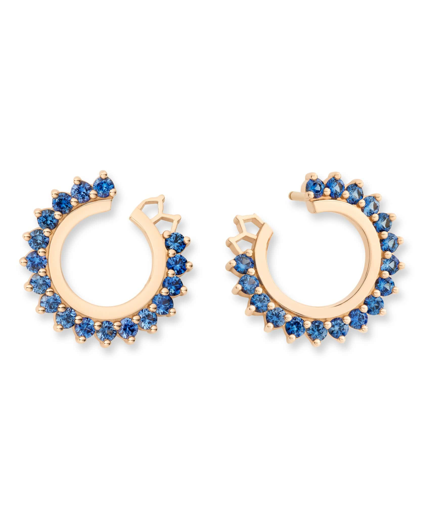Blue Sapphire Earrings: Discover Luxury Fine Jewelry | Nouvel Heritage || Rose Gold