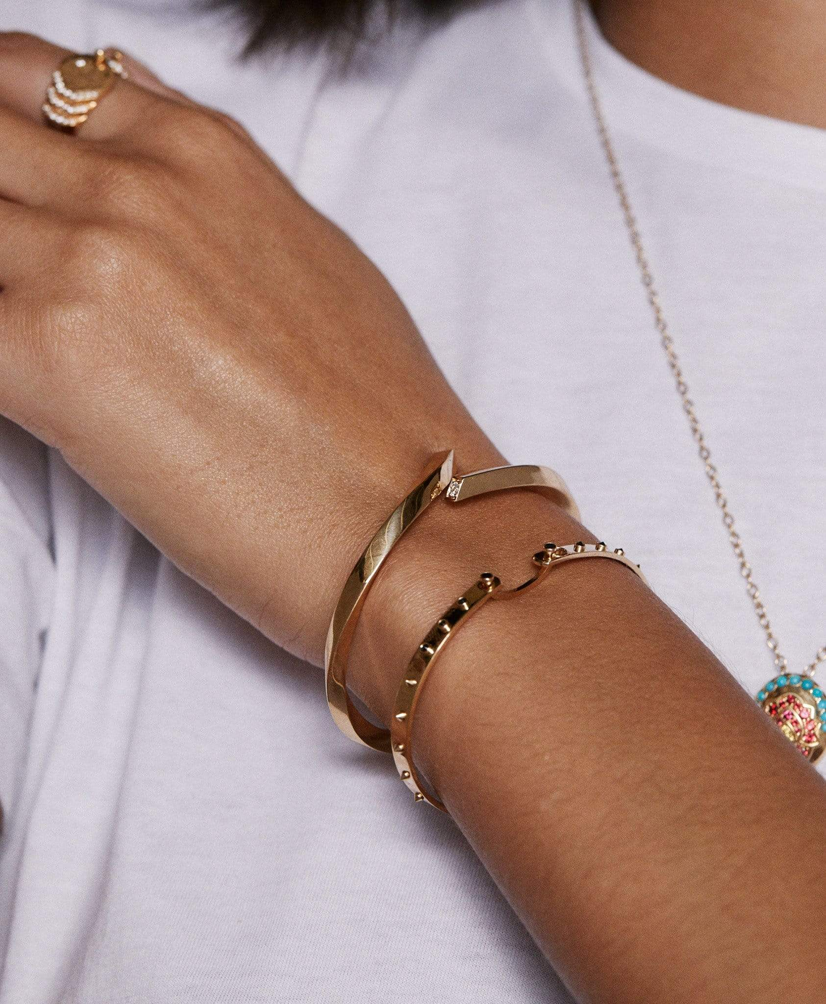 Brunch in LA Mood Bangle: Discover Luxury Fine Jewelry | Nouvel Heritage