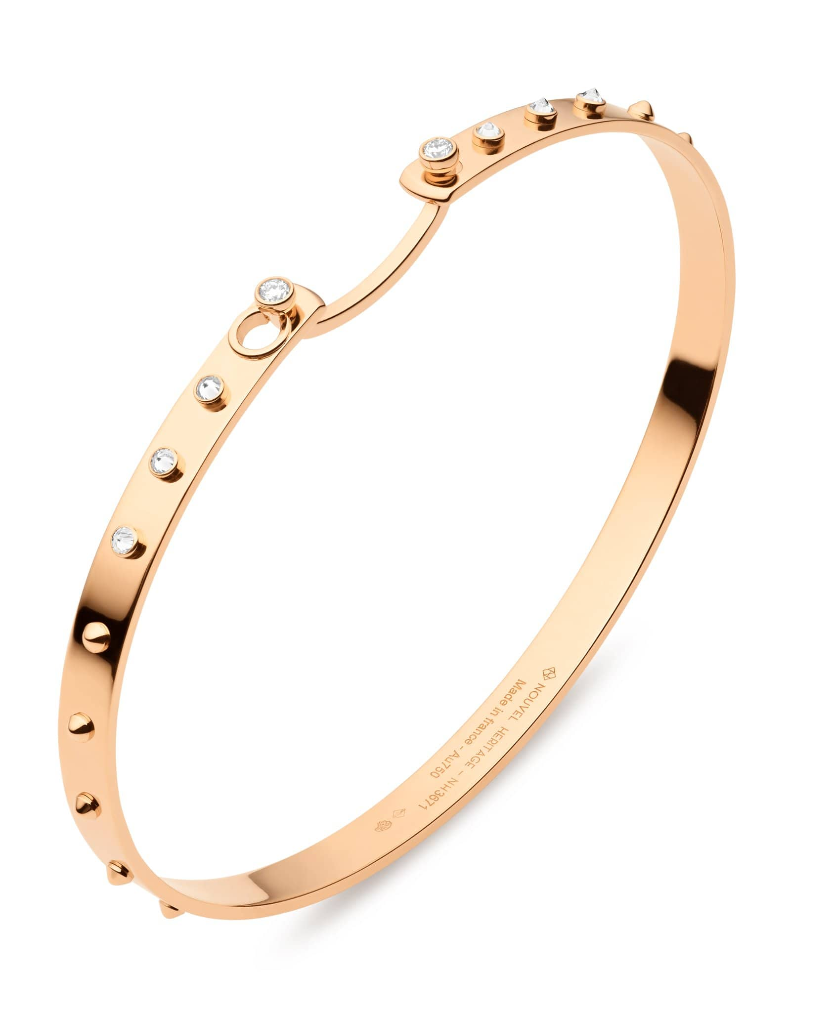Brunch in NY Mood Bangle: Discover Luxury Fine Jewelry | Nouvel Heritage || Rose Gold
