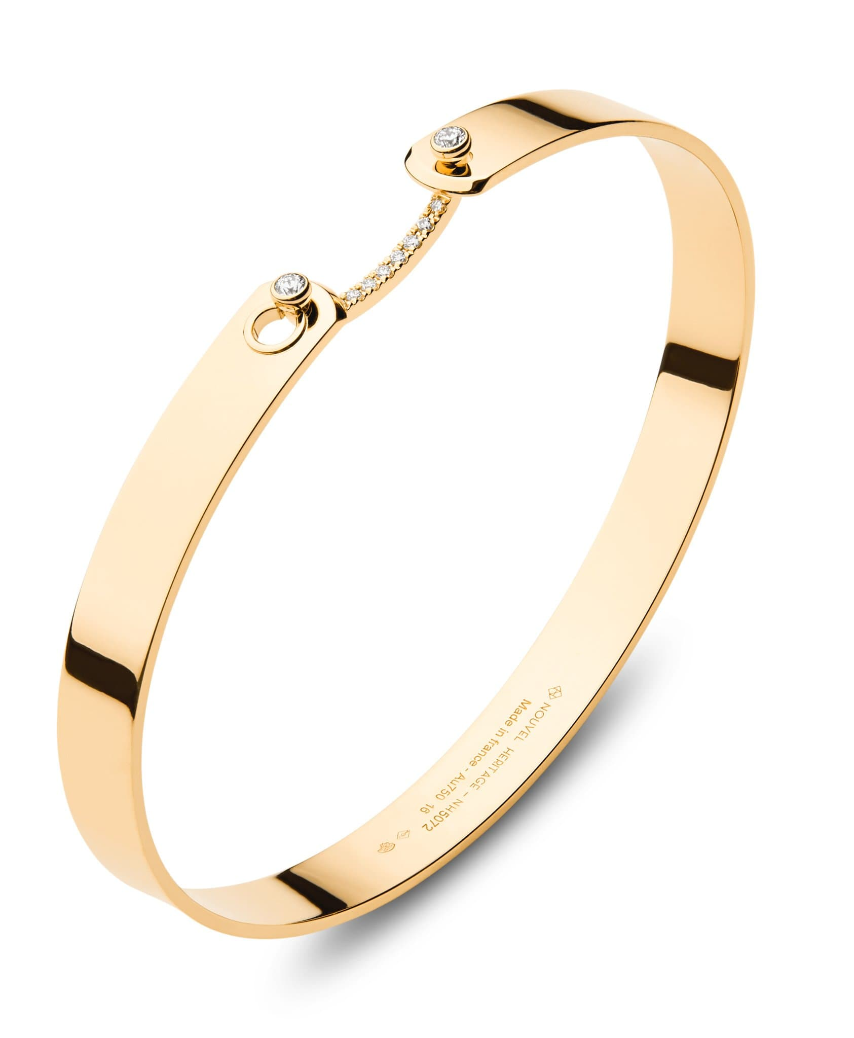 Business Meeting GM Mood Bangle: Discover Luxury Fine Jewelry | Nouvel Heritage || Yellow Gold