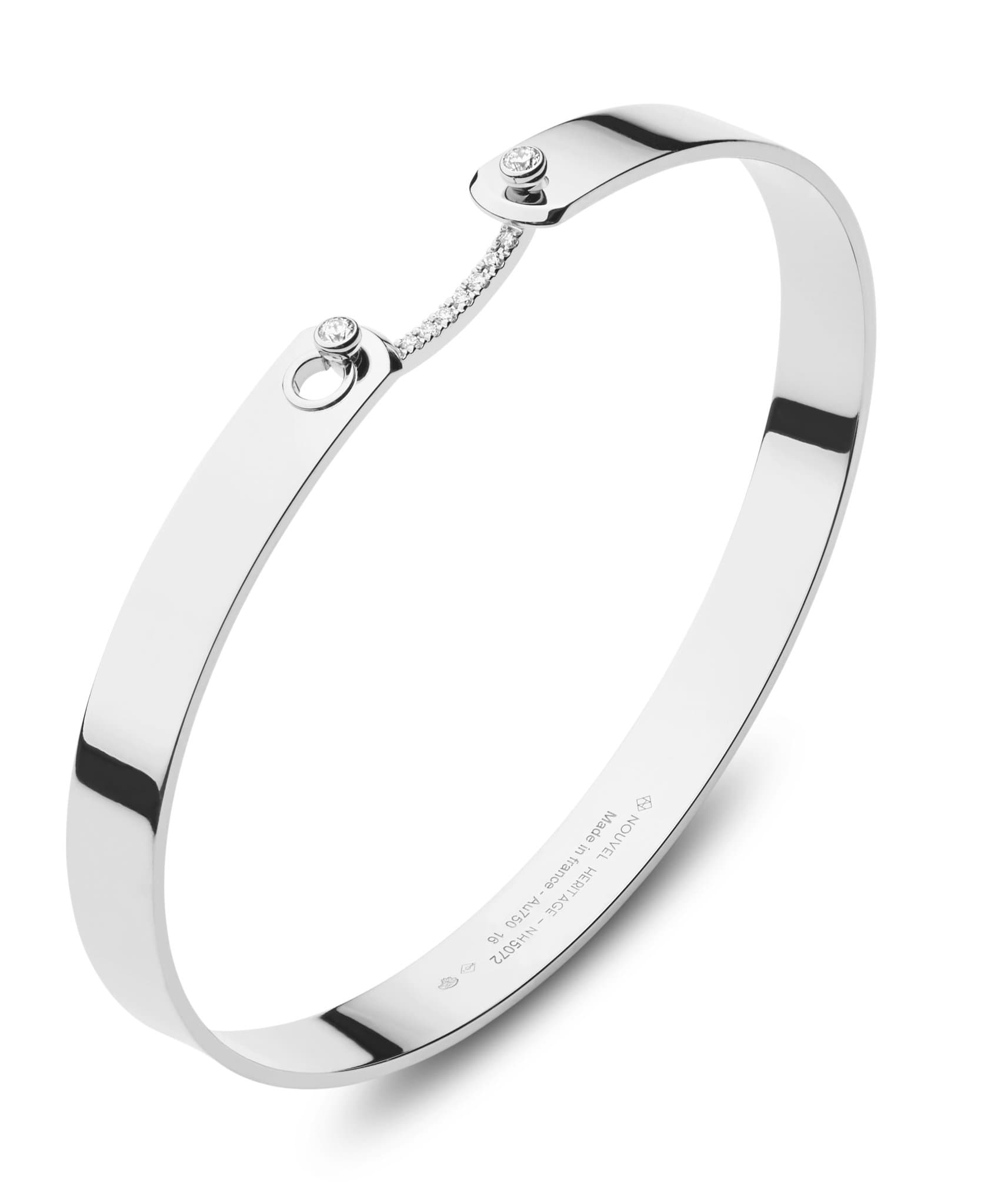 Business Meeting GM Mood Bangle: Discover Luxury Fine Jewelry | Nouvel Heritage || White Gold