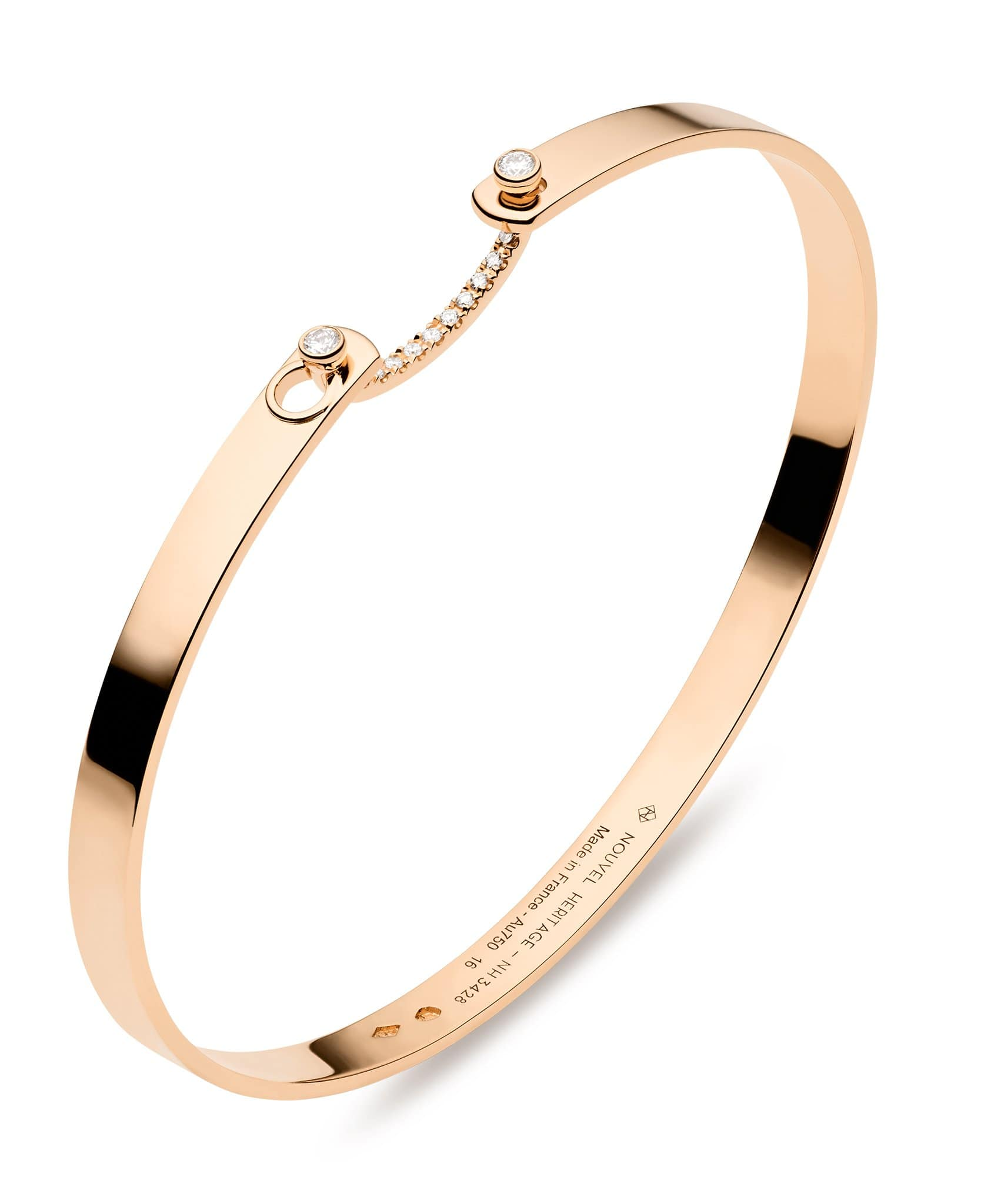 Business Meeting Mood Bangle | 18k Gold Oval Bangle | Rose Gold