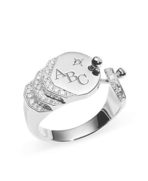 Diamond Signet Ring - Nouvel Heritage