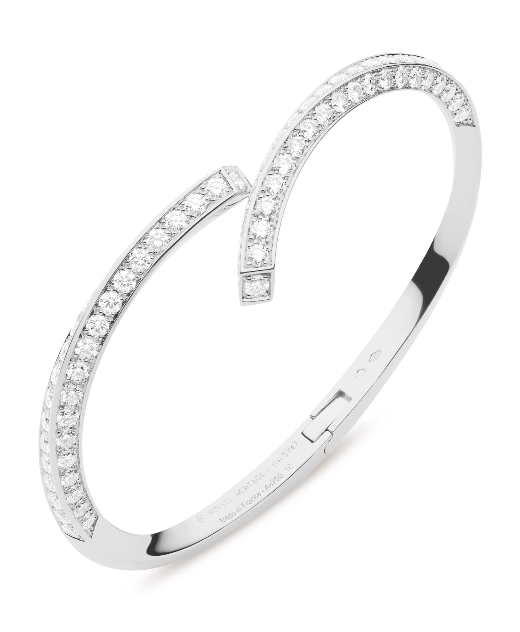 Diamond Thread Bangle: Discover Luxury Fine Jewelry | Nouvel Heritage || White Gold