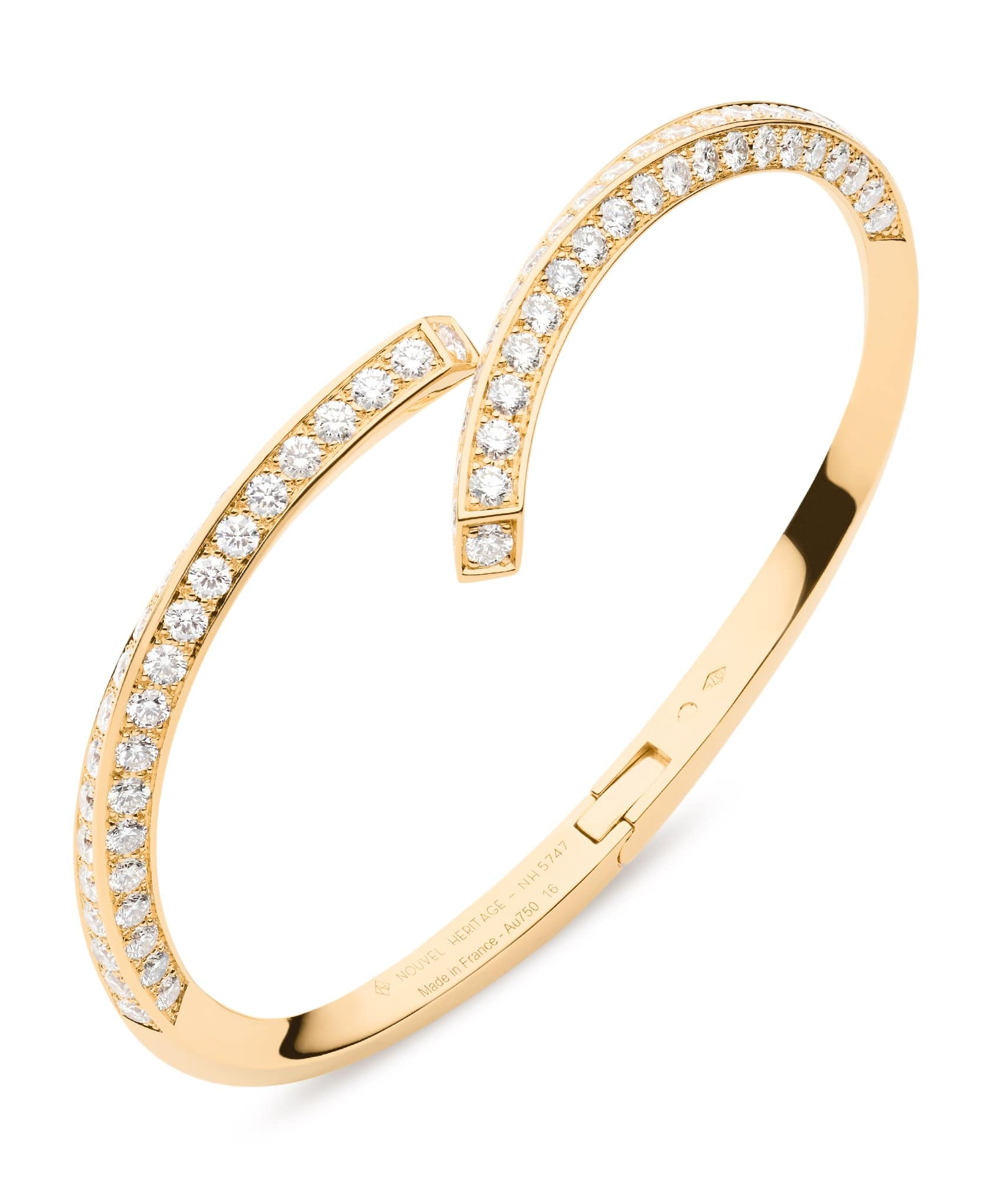 Diamond Thread Bangle: Discover Luxury Fine Jewelry | Nouvel Heritage || Yellow Gold