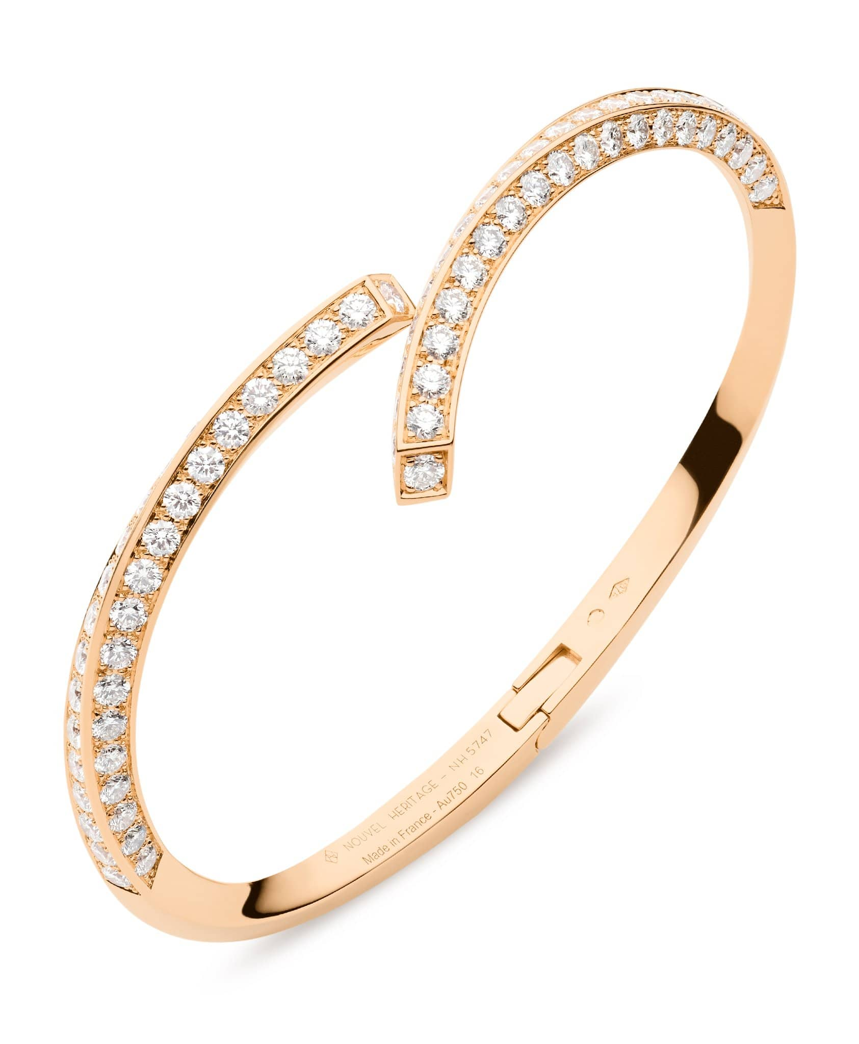 Diamond Thread Bangle: Discover Luxury Fine Jewelry | Nouvel Heritage || Rose Gold
