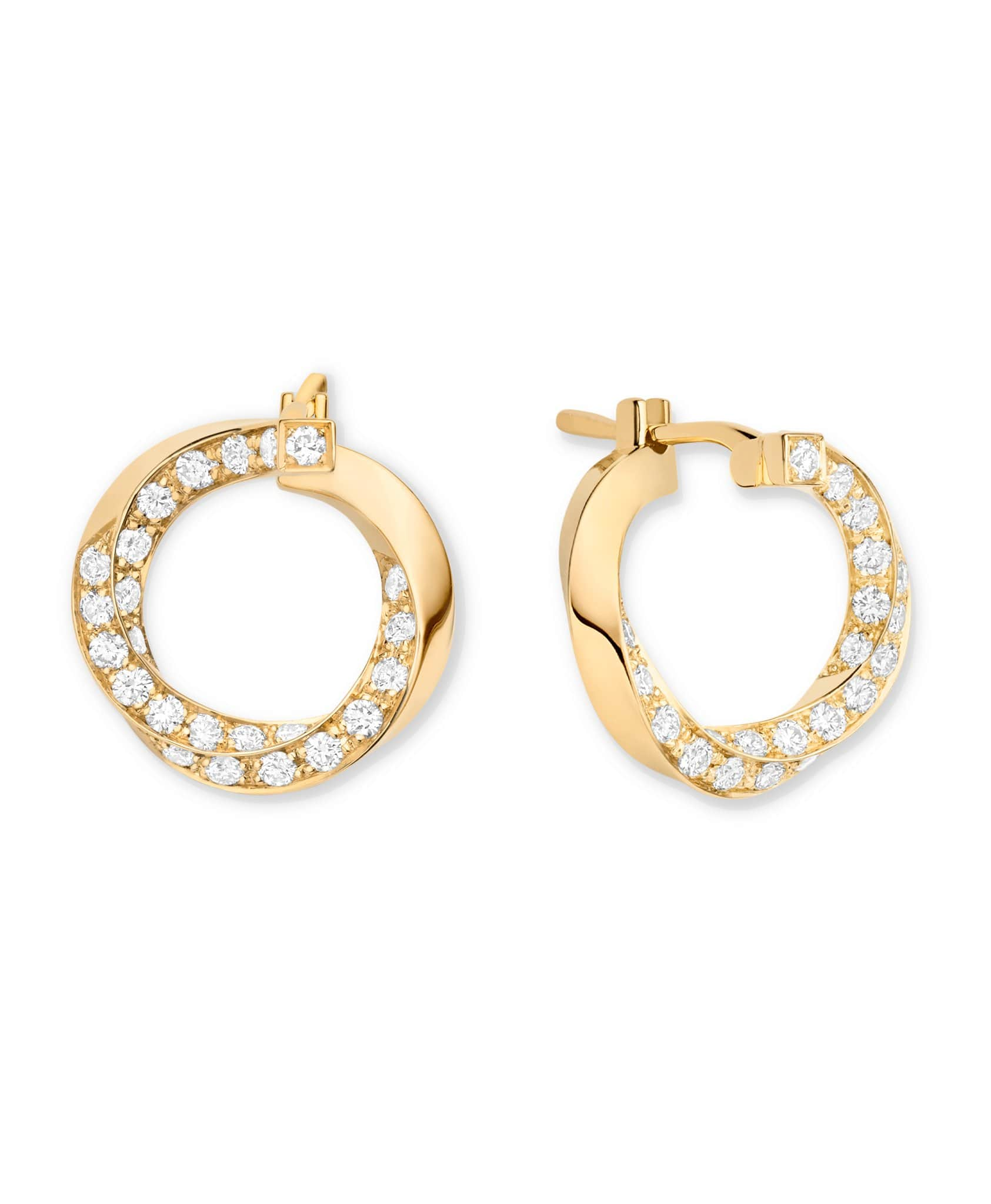 Diamond Thread Earrings: Discover Luxury Fine Jewelry | Nouvel Heritage || Yellow Gold