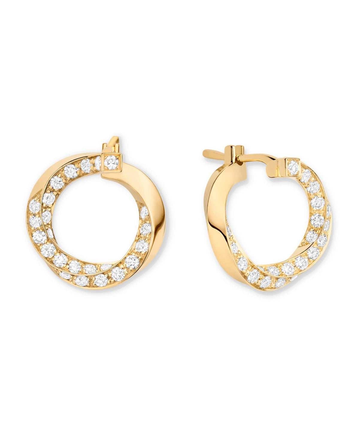 Diamond Thread Earrings: Discover Luxury Fine Jewelry | Nouvel Heritage || White Gold
