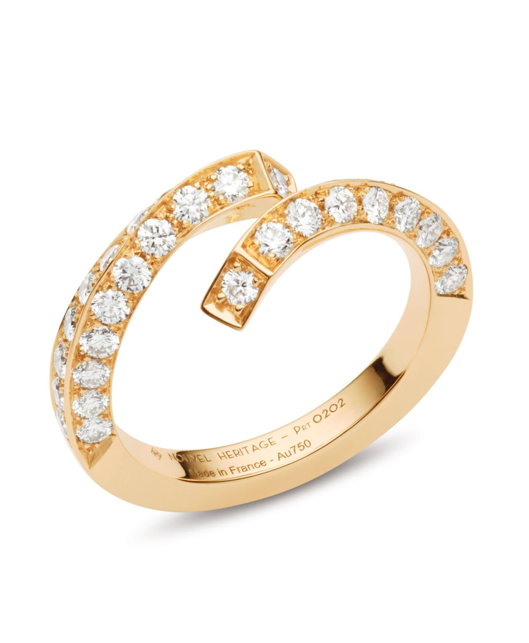 Diamond Thread Ring: Discover Luxury Fine Jewelry | Nouvel Heritage || Yellow Gold