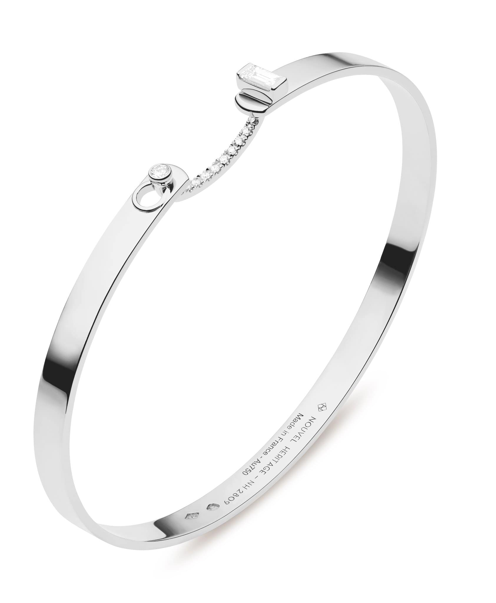 Dinner Date Mood Bangle: Discover Luxury Fine Jewelry | Nouvel Heritage || White Gold