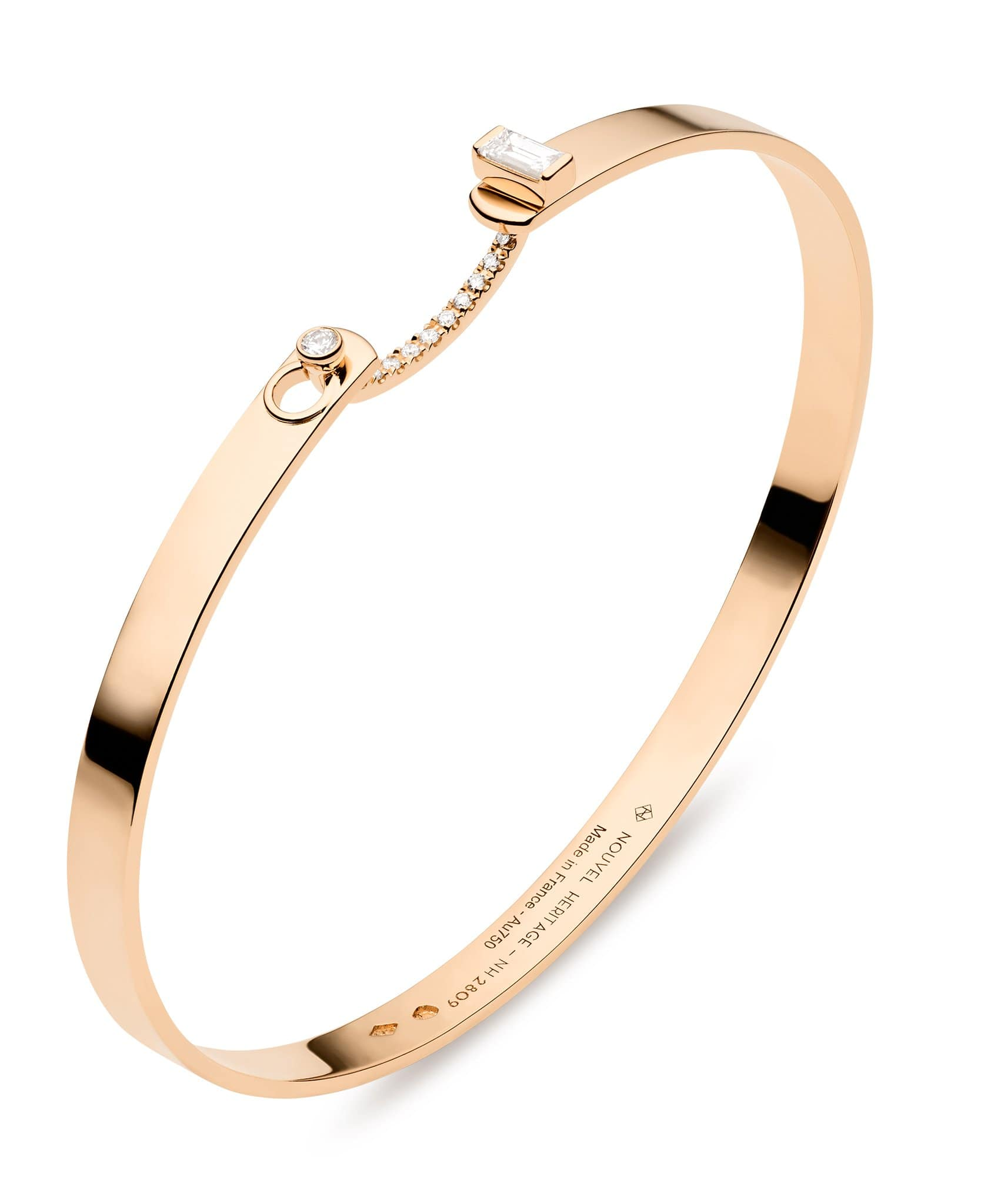 Dinner Date Mood Bangle: Discover Luxury Fine Jewelry | Nouvel Heritage || Rose Gold