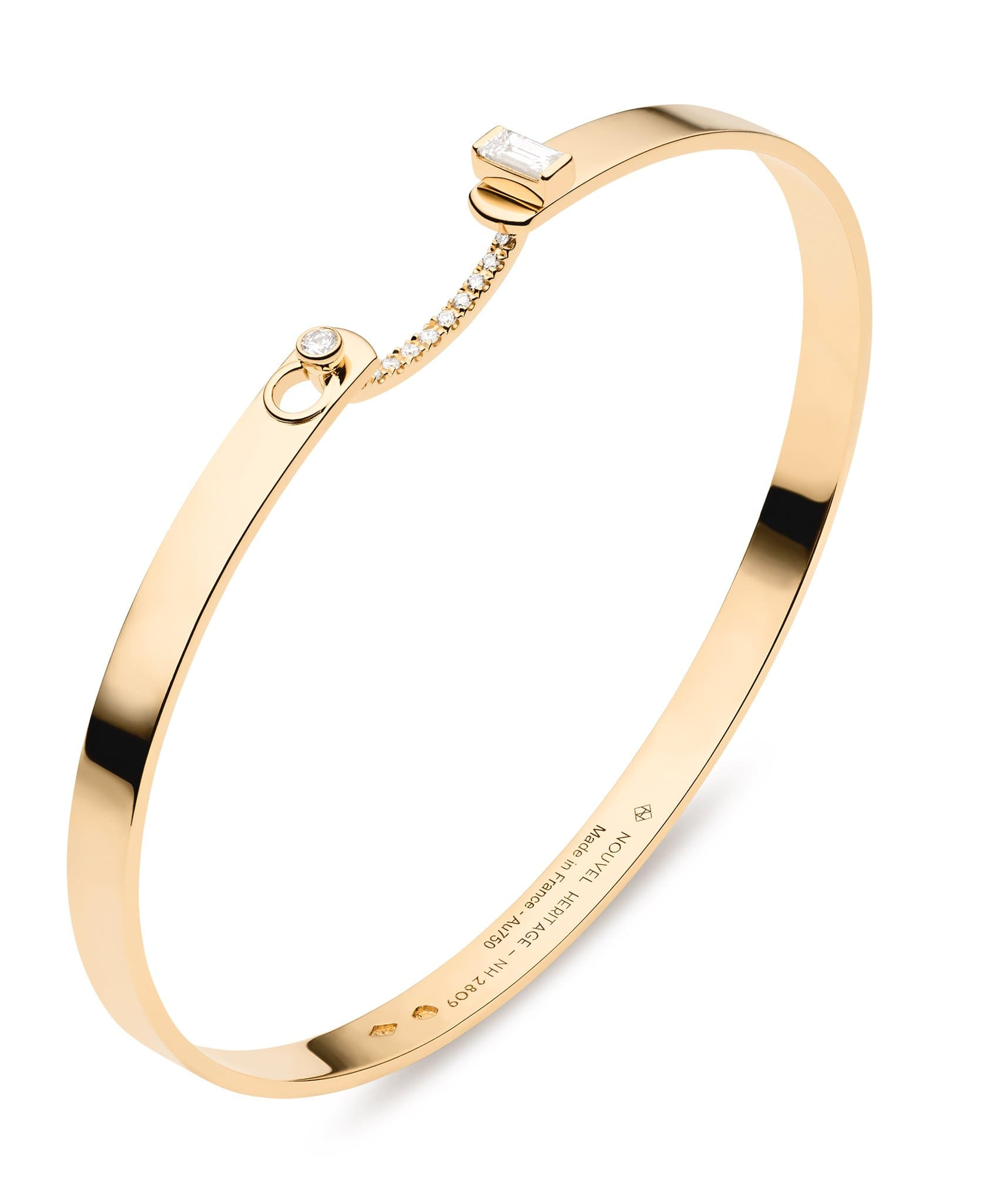 Dinner Date Mood Bangle: Discover Luxury Fine Jewelry | Nouvel Heritage || Yellow Gold