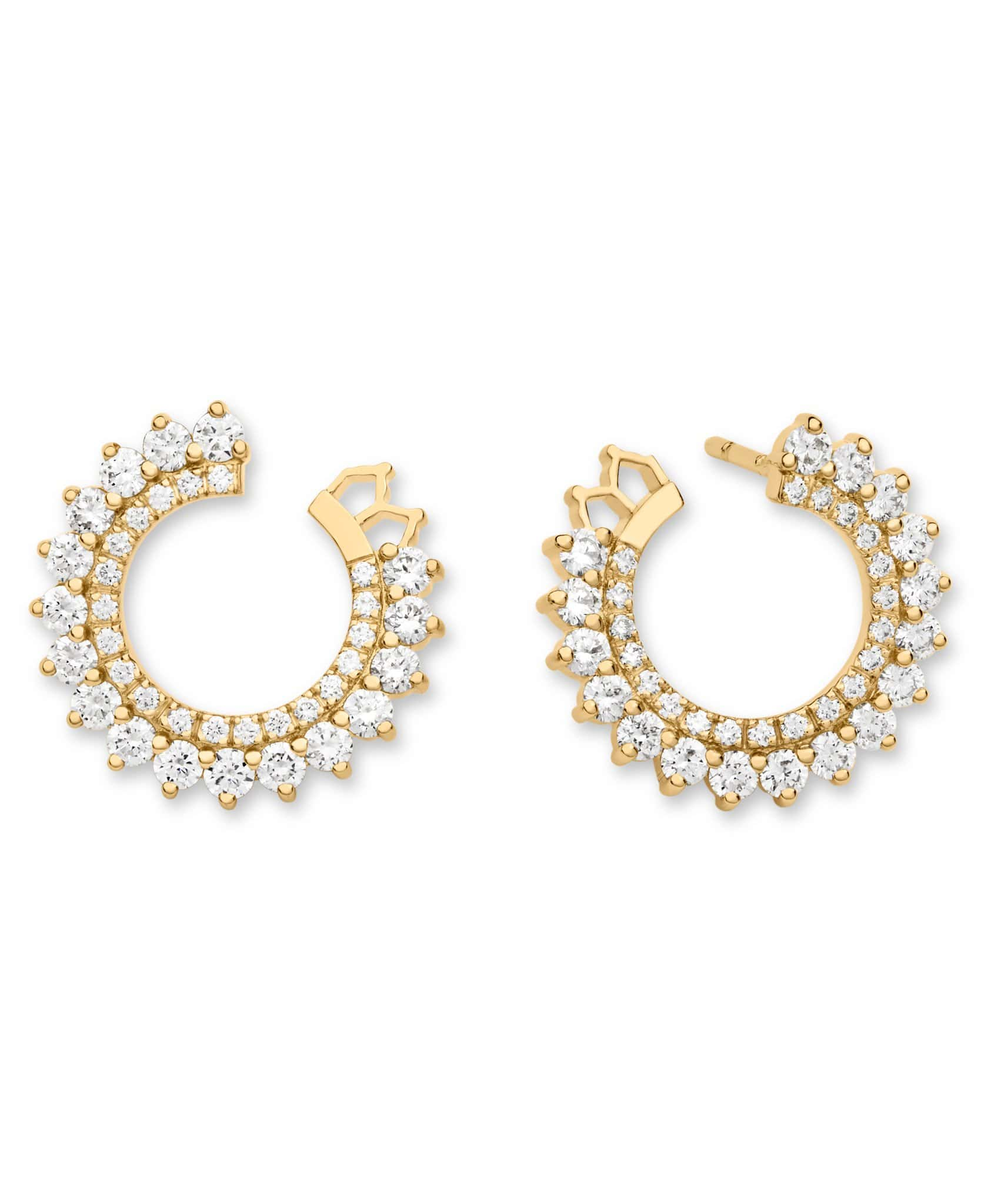 Double Diamond Earrings: Discover Luxury Fine Jewelry | Nouvel Heritage || Yellow Gold