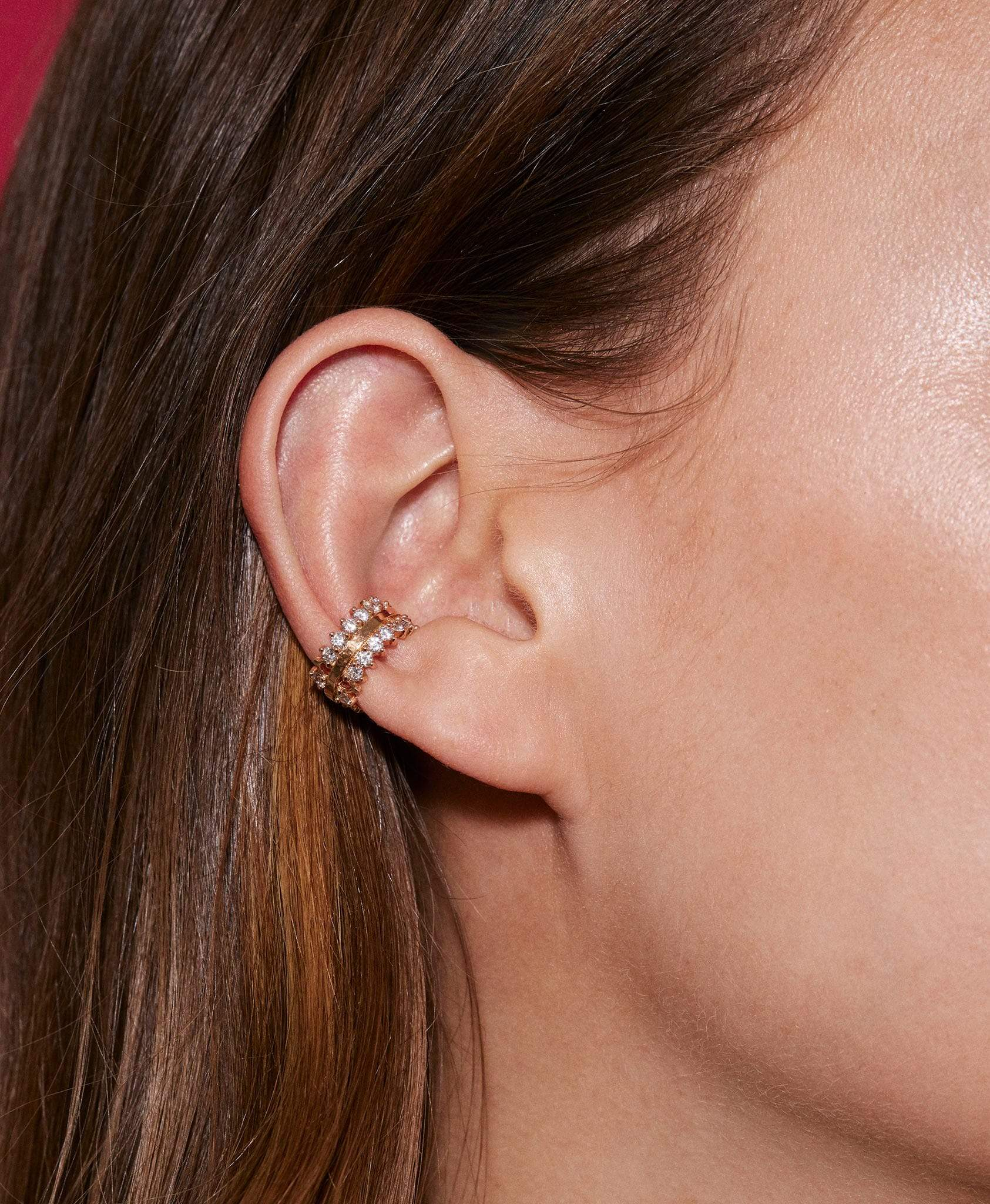 Double Full Diamond Ear Cuff: Discover Luxury Fine Jewelry | Nouvel Heritage