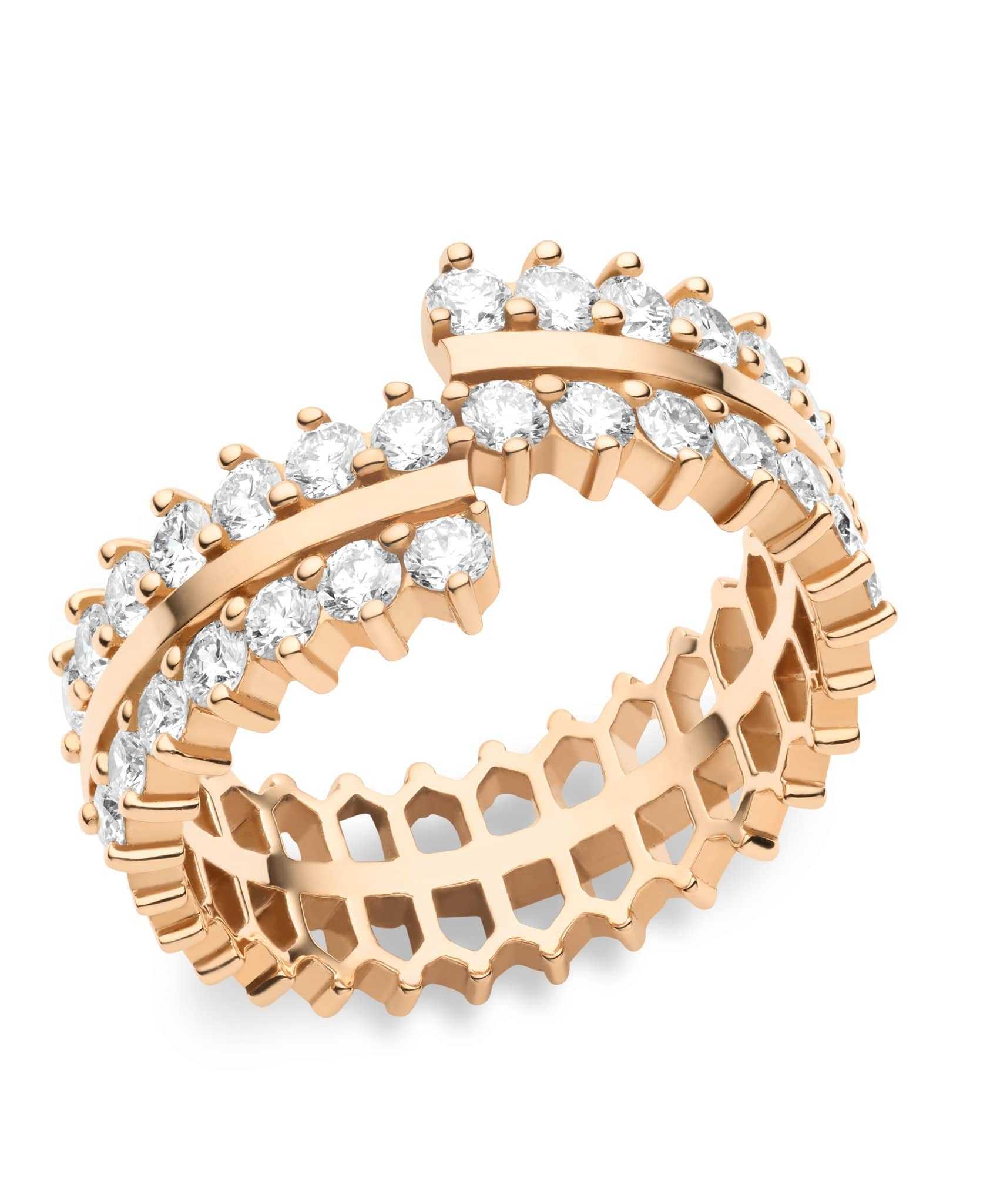 Double Full Diamond Ring: Discover Luxury Fine Jewelry | Nouvel Heritage || Rose Gold