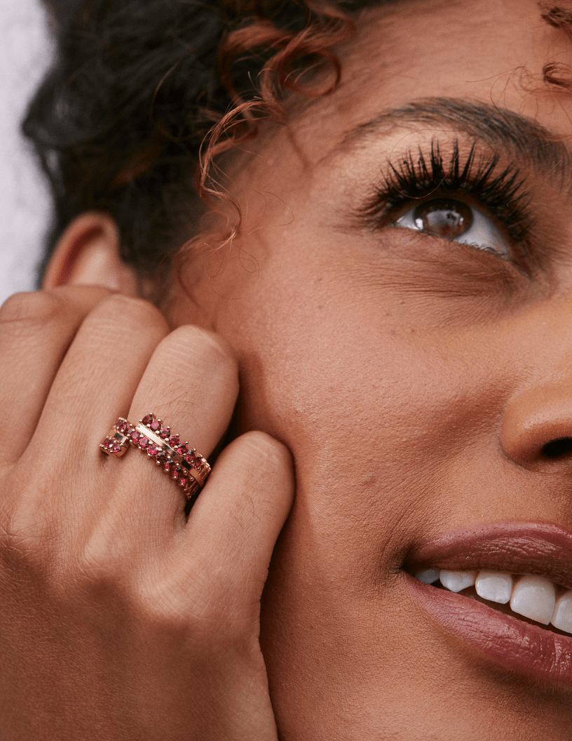Double Full Red Spinel Ring: Discover Luxury Fine Jewelry | Nouvel Heritage