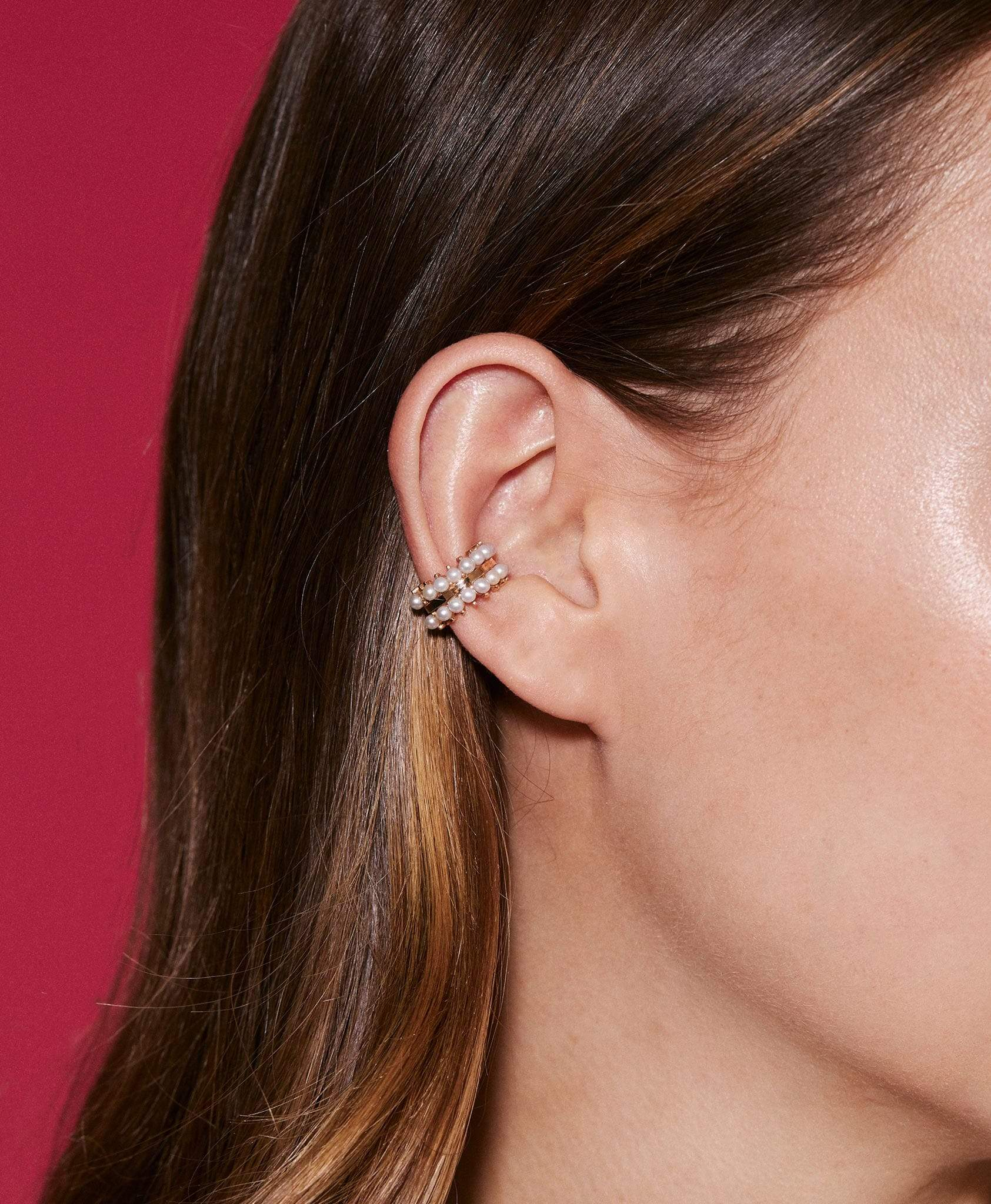 Double Pearl Ear Cuff: Discover Luxury Fine Jewelry | Nouvel Heritage
