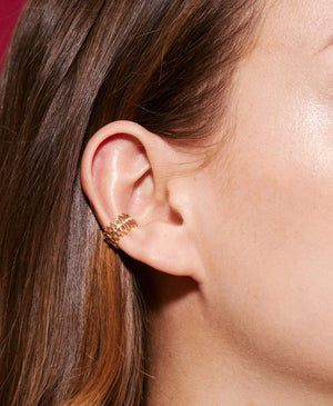 Double Some Diamond Ear Cuff - Nouvel Heritage