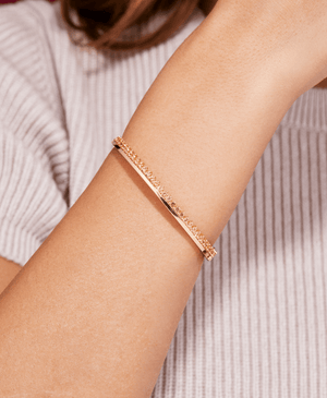 Garnet Claude Bangle - Nouvel Heritage