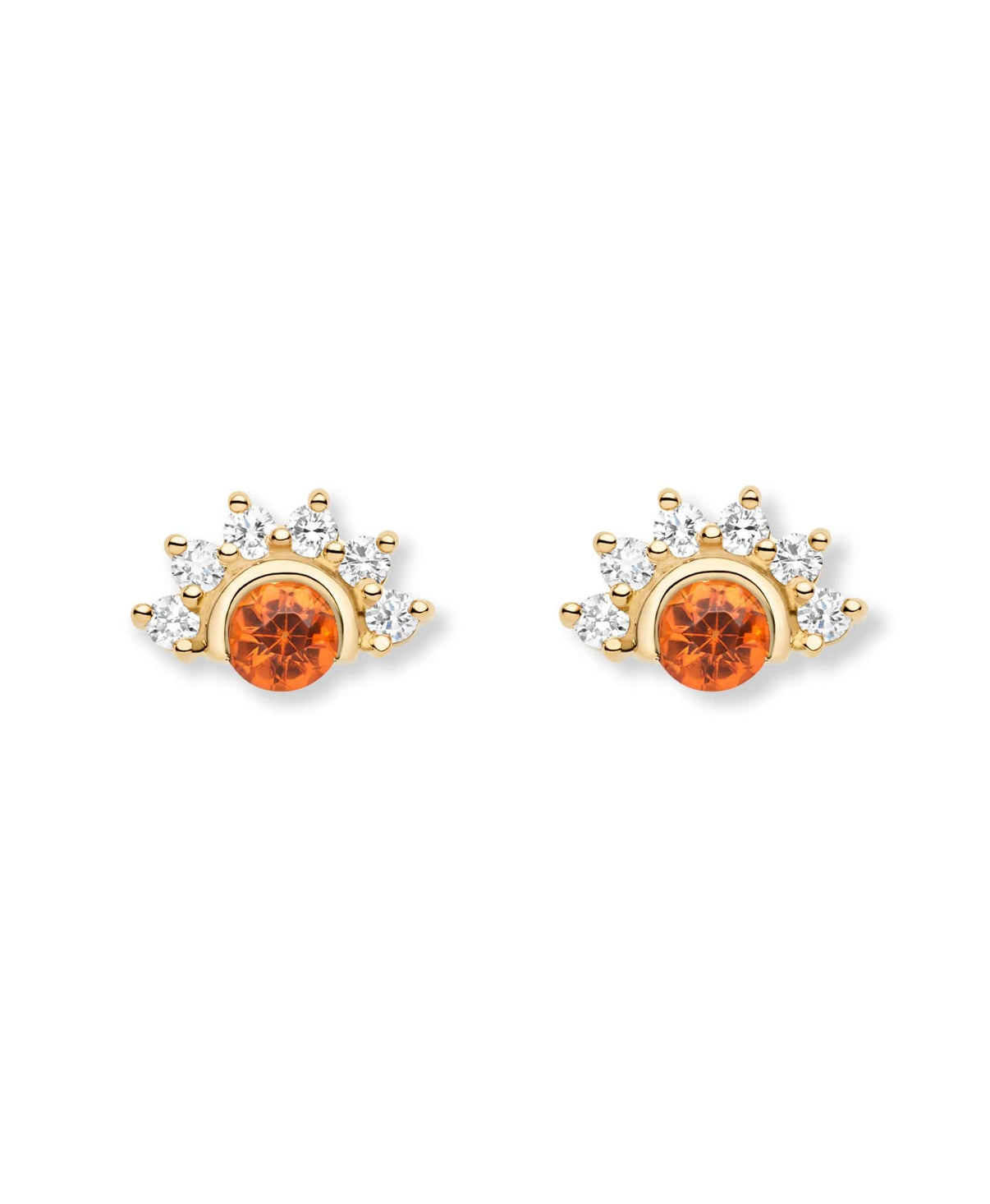 Garnet Studs: Discover Luxury Fine Jewelry | Nouvel Heritage || Yellow Gold