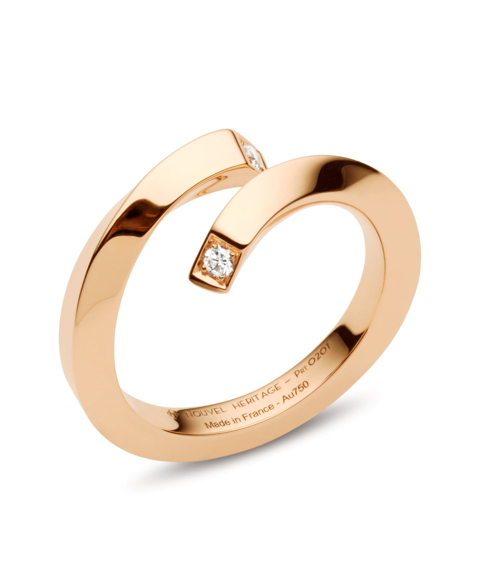 Gold Thread Ring: Discover Luxury Fine Jewelry | Nouvel Heritage || Rose Gold