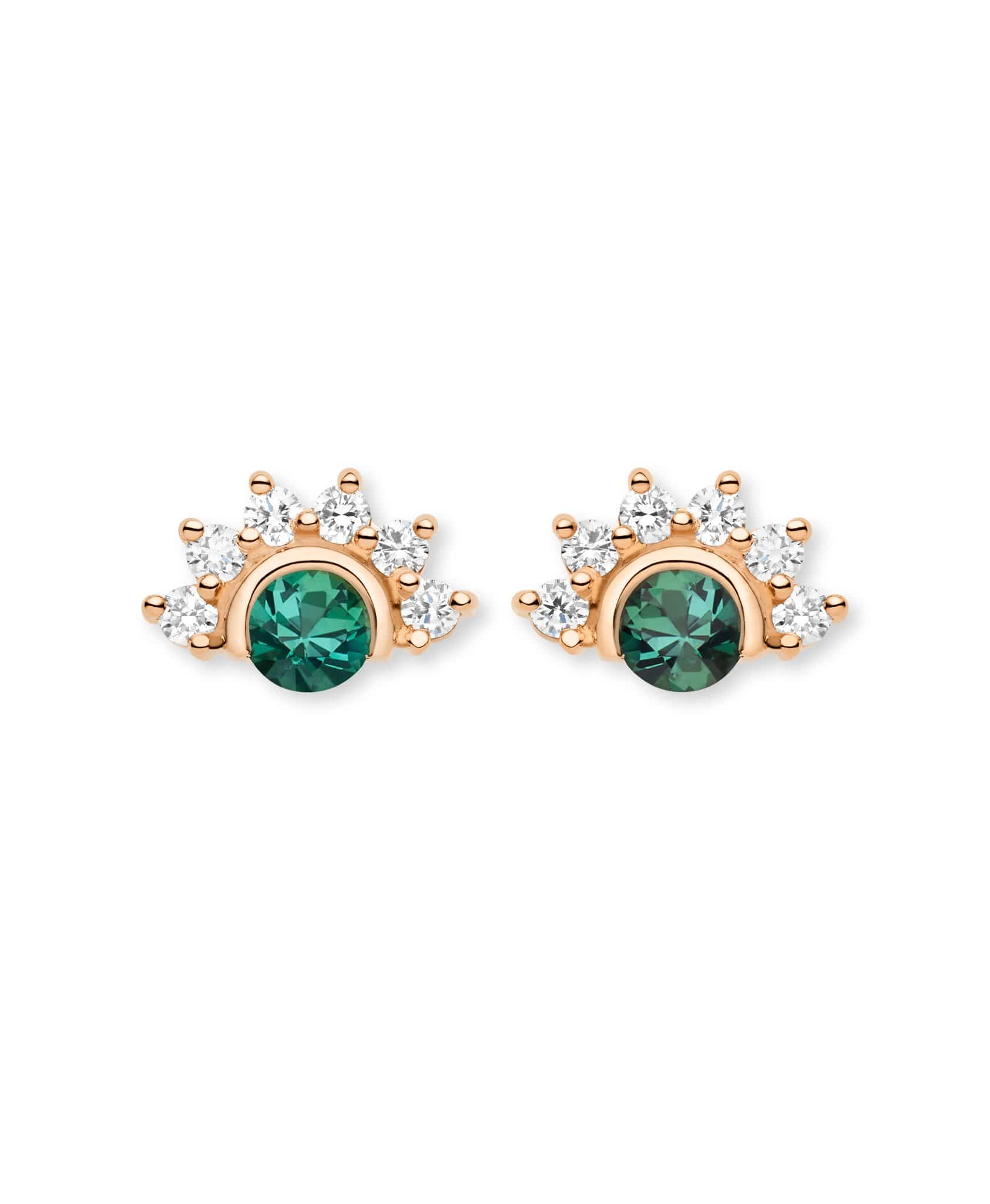 Green Tourmaline Studs: Discover Luxury Fine Jewelry | Nouvel Heritage || Rose Gold