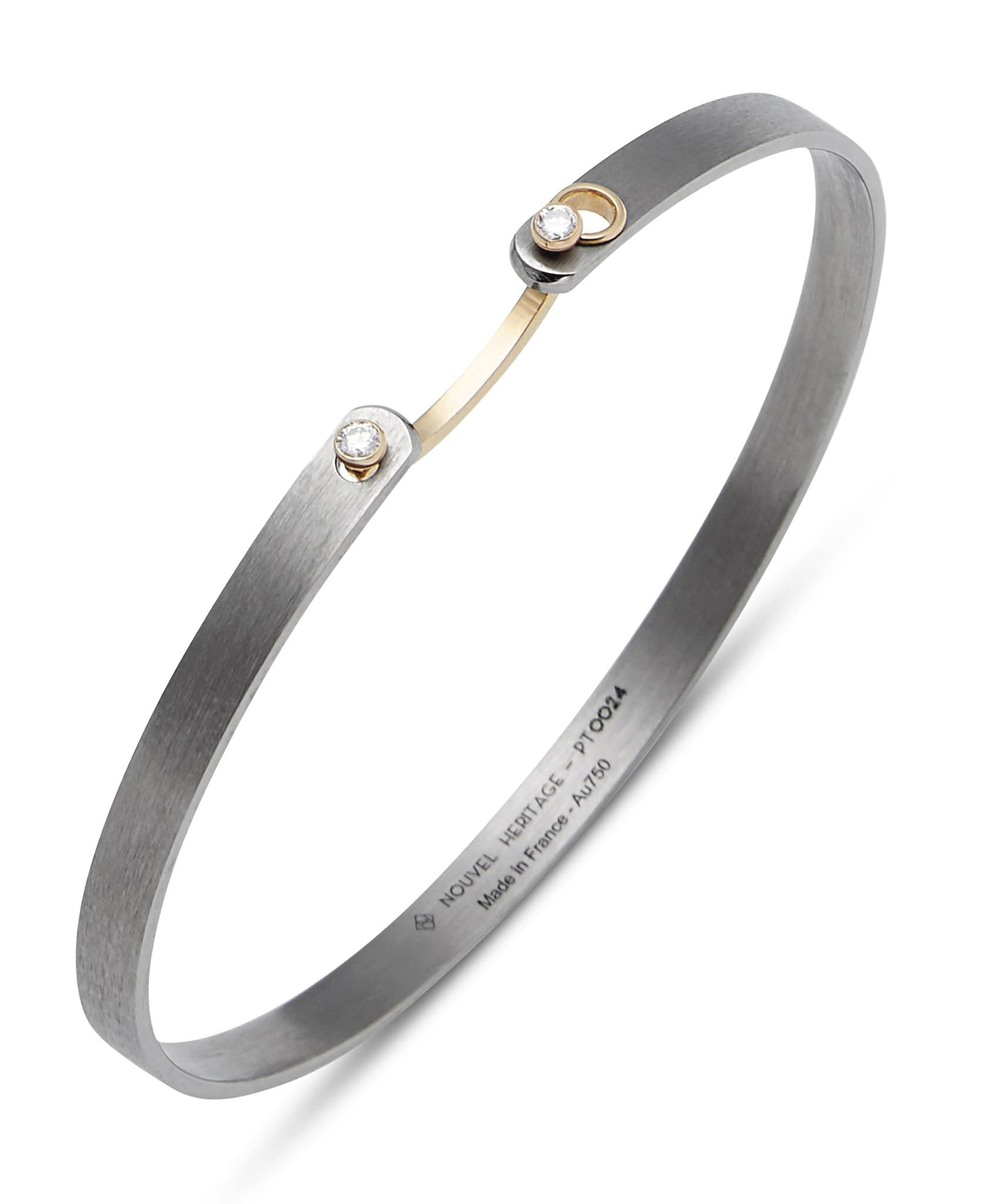 Hers Titanium Mood Bangle: Discover Luxury Fine Jewelry | Nouvel Heritage || Yellow Gold