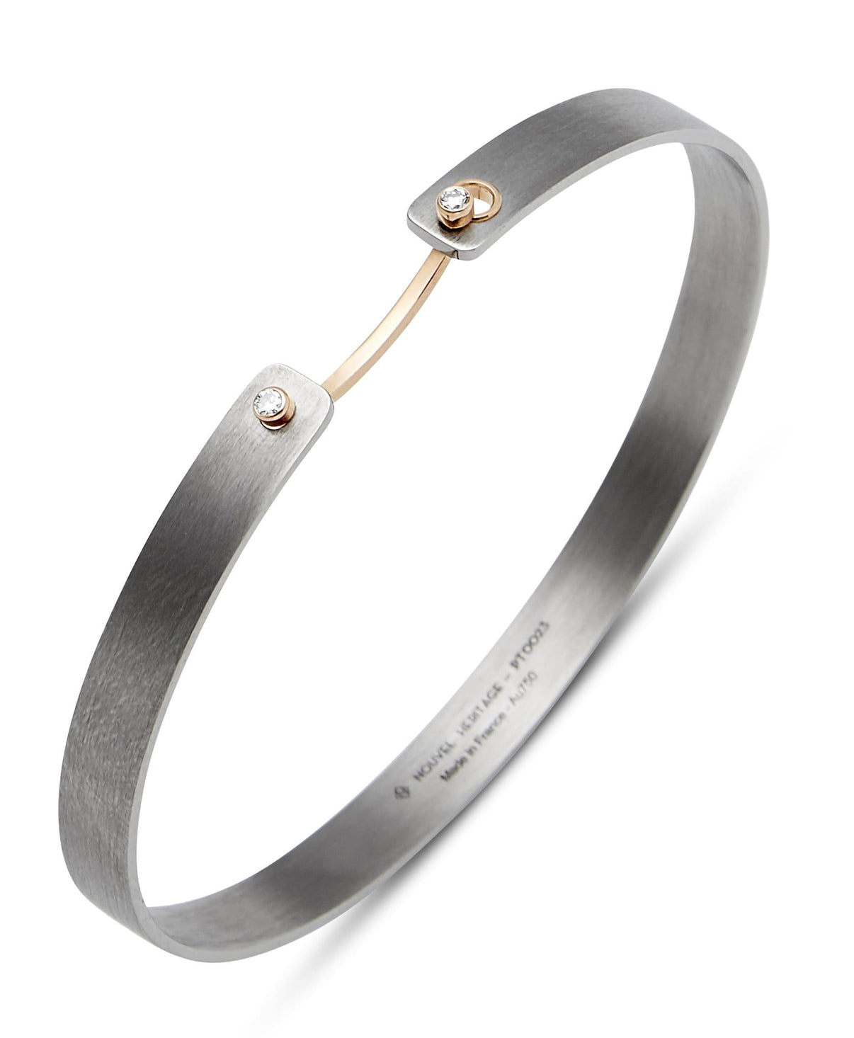 His Titanium Mood Bangle: Discover Luxury Fine Jewelry | Nouvel Heritage || Yellow Gold