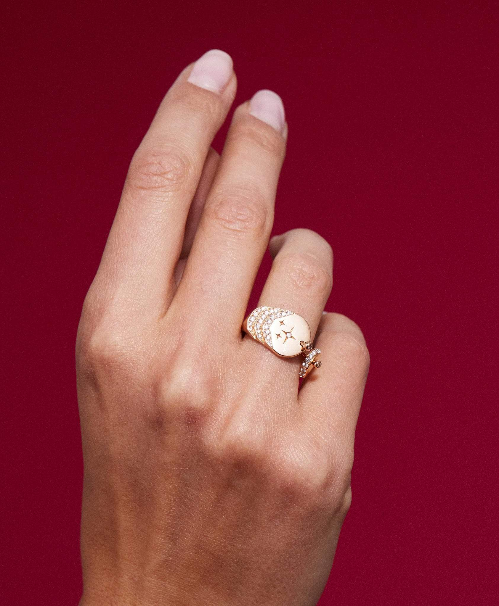 Love Diamond Signet Ring: Discover Luxury Fine Jewelry | Nouvel Heritage