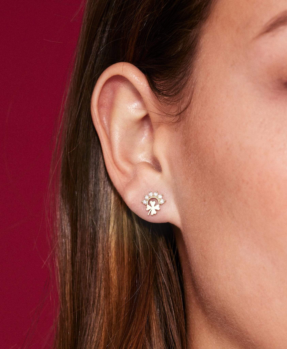Luck Studs: Discover Luxury Fine Jewelry | Nouvel Heritage || White Gold